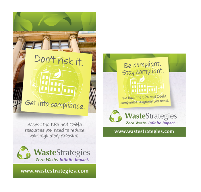 Online or print advertisement designed for a local waste management company.
