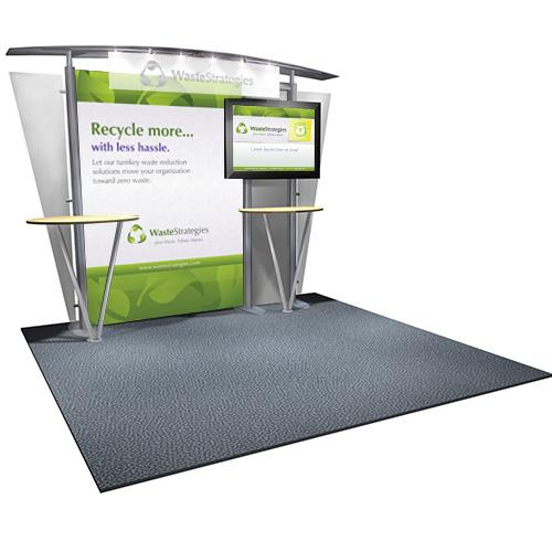 Tradeshow booth designed for a local waste management company.