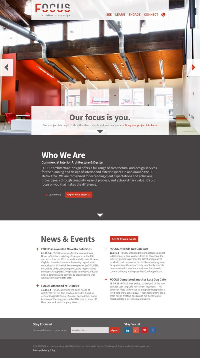 Web page design for a local (VA/DC) architecture firm.